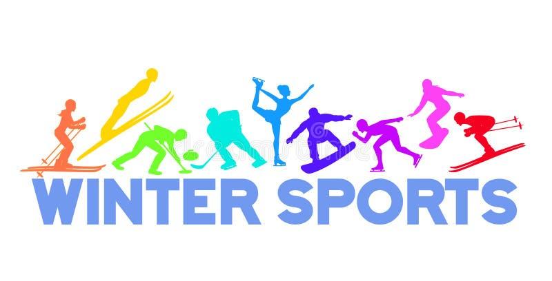De Achtergrond van de Sneeuwsporten van het de winterijs vector illustratie