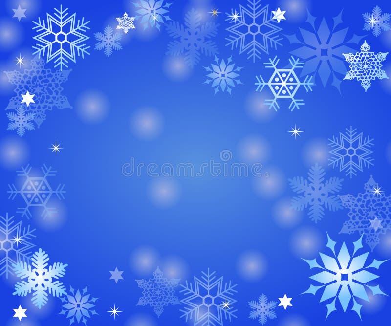 De achtergrond van de sneeuwvlok stock illustratie