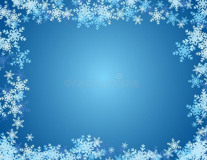 De Achtergrond van de sneeuwvlok - Blauw royalty-vrije illustratie