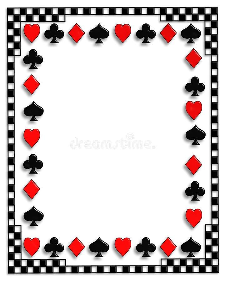 De achtergrond van de Speelkaarten van de pook royalty-vrije illustratie