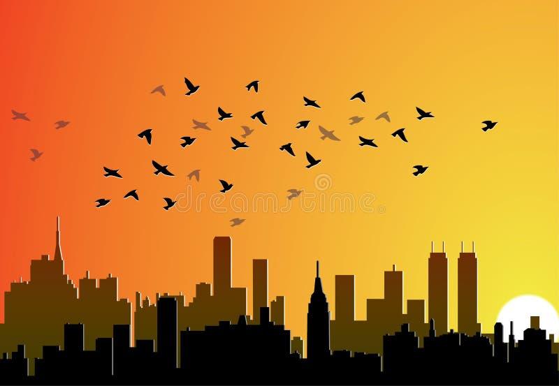 De achtergrond van de stad