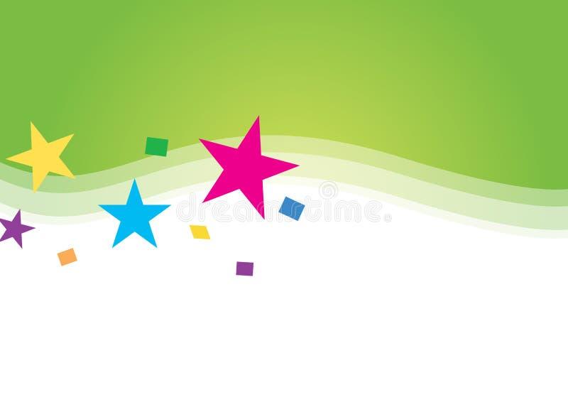 De achtergrond van de ster vector illustratie