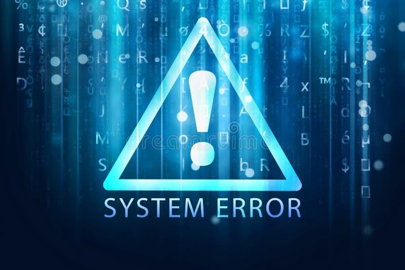 De achtergrond van de systeemfout stock illustratie