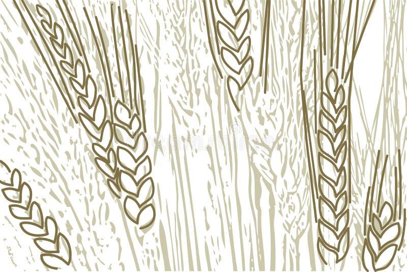 De achtergrond van de tarwe stock illustratie
