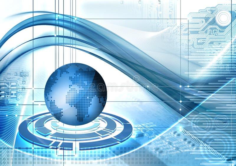 De achtergrond van de Technologie van Abstarct stock illustratie