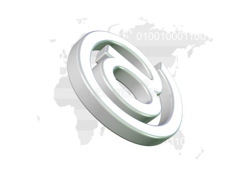 De Achtergrond van de Technologie van Internet royalty-vrije illustratie