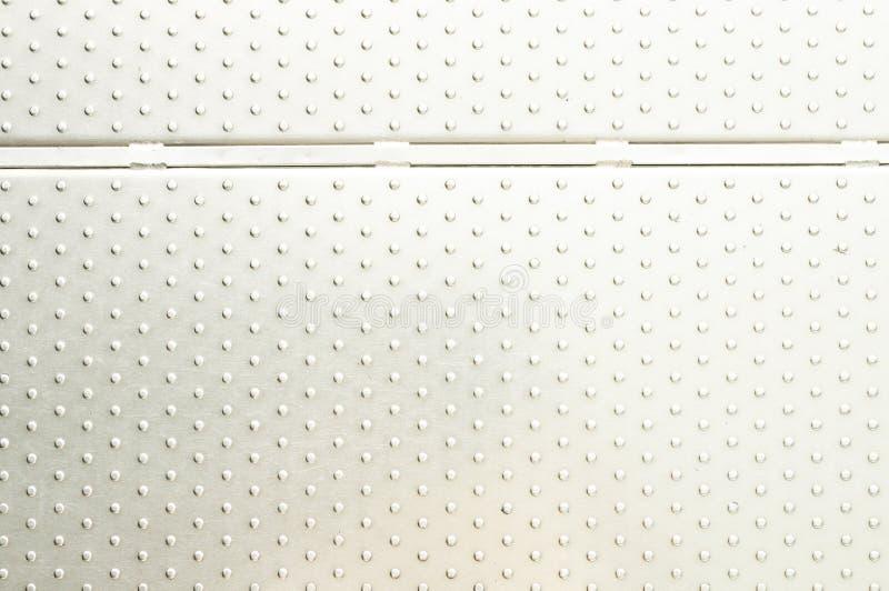 De achtergrond van de textuur van de plaat of het aluminium van het Metaal stock foto's