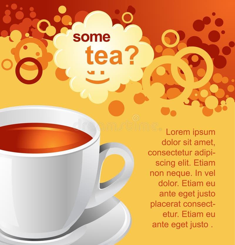 De achtergrond van de thee royalty-vrije illustratie