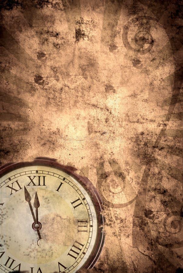 De achtergrond van de tijd grunge vector illustratie
