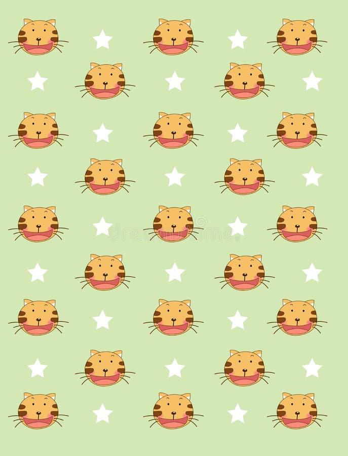 De achtergrond van de tijger royalty-vrije illustratie