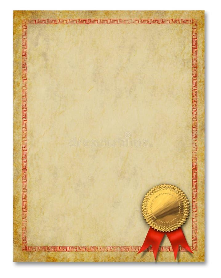 De Achtergrond van de Toekenning van het Diploma van het Frame van het certificaat stock foto