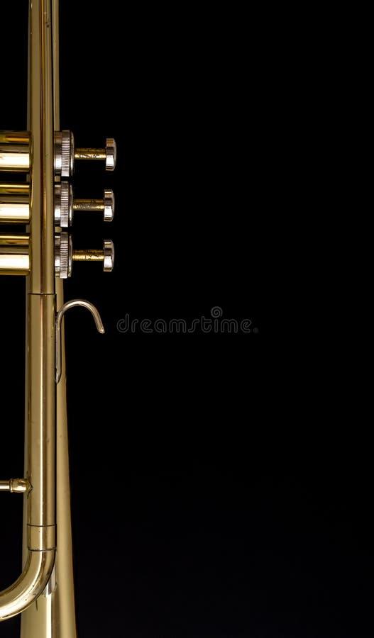 De achtergrond van de trompet stock foto