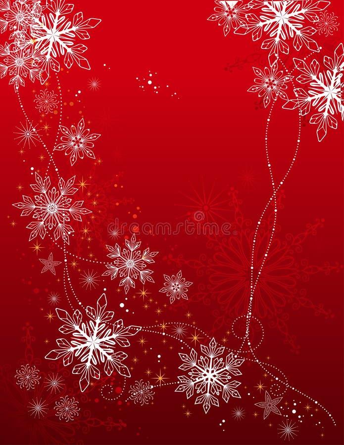 De achtergrond van de vakantie met sneeuwvlokken vector illustratie