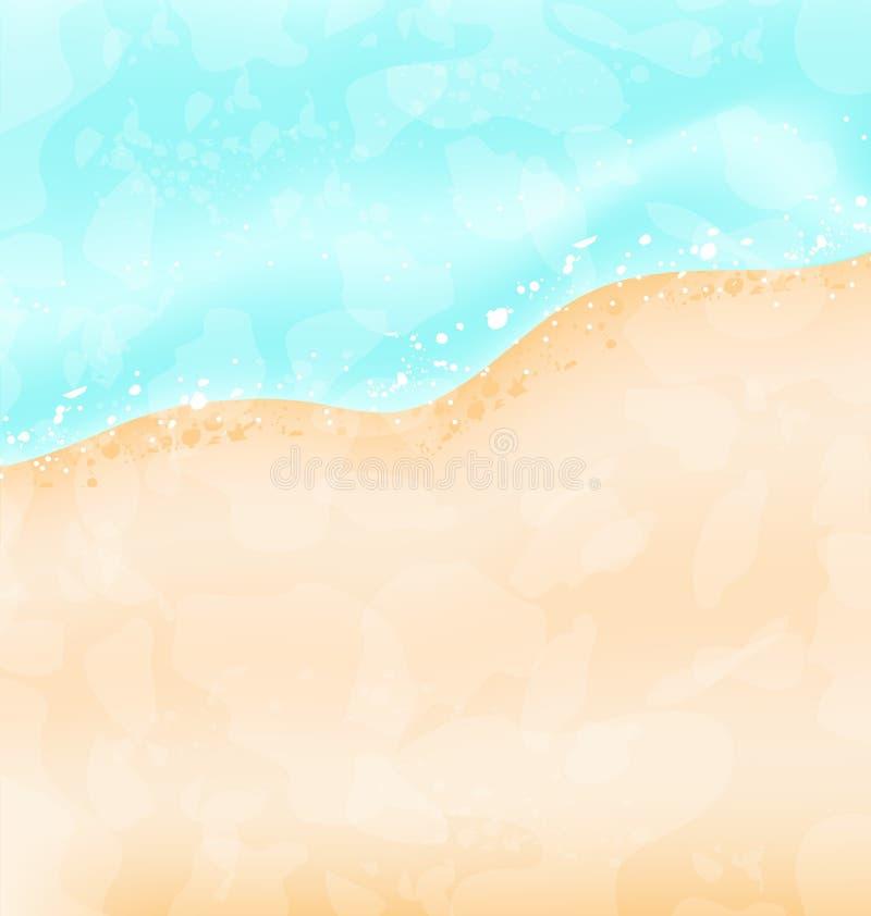 De achtergrond van de vakantie - strand, overzees, zand royalty-vrije illustratie