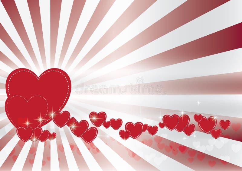 De achtergrond van de valentijnskaart bokeh royalty-vrije stock afbeelding
