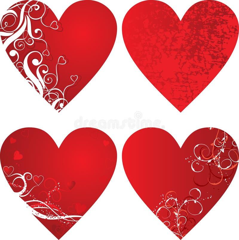 De achtergrond van de valentijnskaart, harten, vector vector illustratie