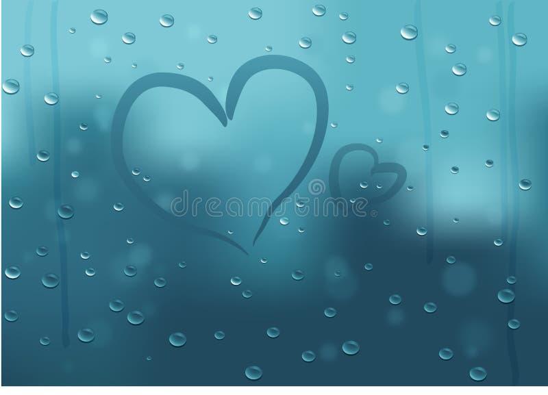 De achtergrond van de valentijnskaart met harten royalty-vrije stock afbeelding