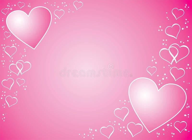 De achtergrond van de valentijnskaart, vector vector illustratie