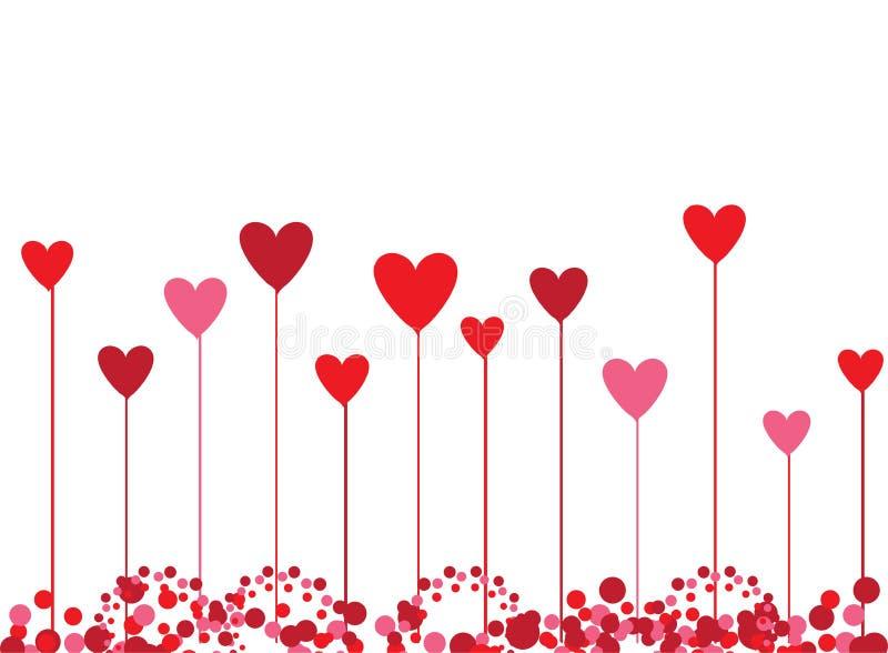 De achtergrond van de valentijnskaart voor uw ontwerp stock illustratie