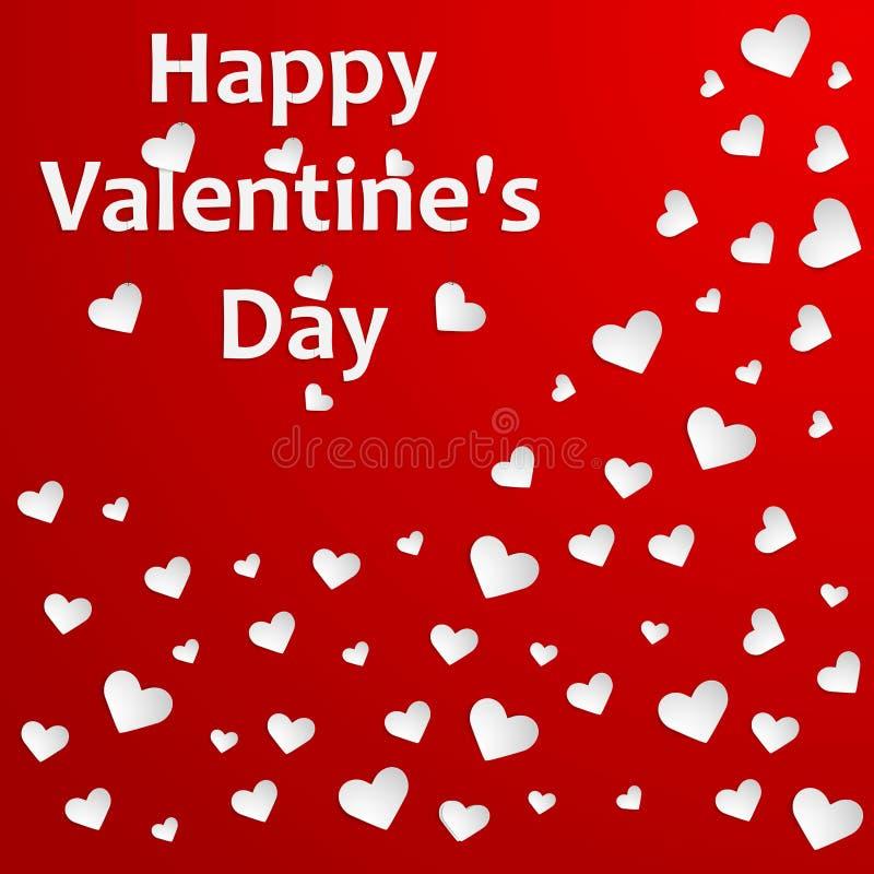 Download De Achtergrond Van De Valentijnskaartendag Met Harten. Vector Illustratie - Illustratie bestaande uit elegant, beeld: 39108656
