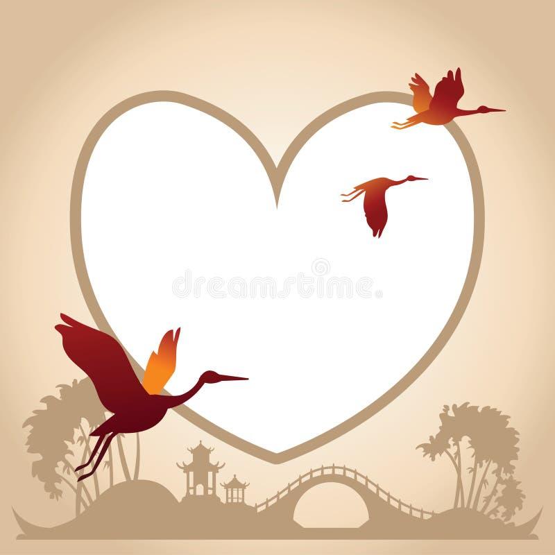 De Achtergrond van de valentijnskaartendag met Ruggegratenachtergrond stock illustratie