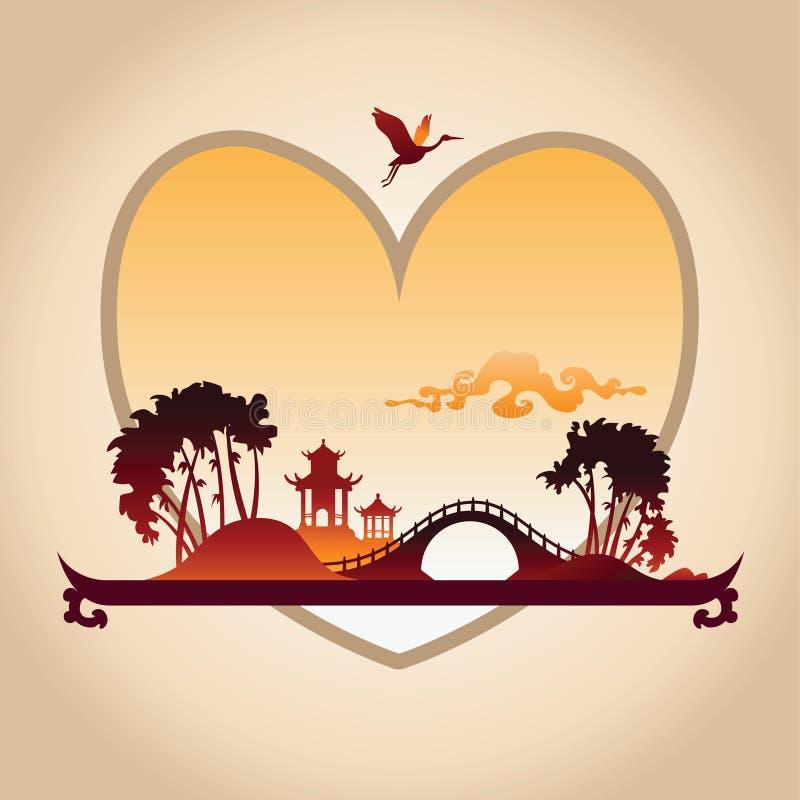 De Achtergrond van de valentijnskaartendag met Ruggegratenachtergrond royalty-vrije illustratie