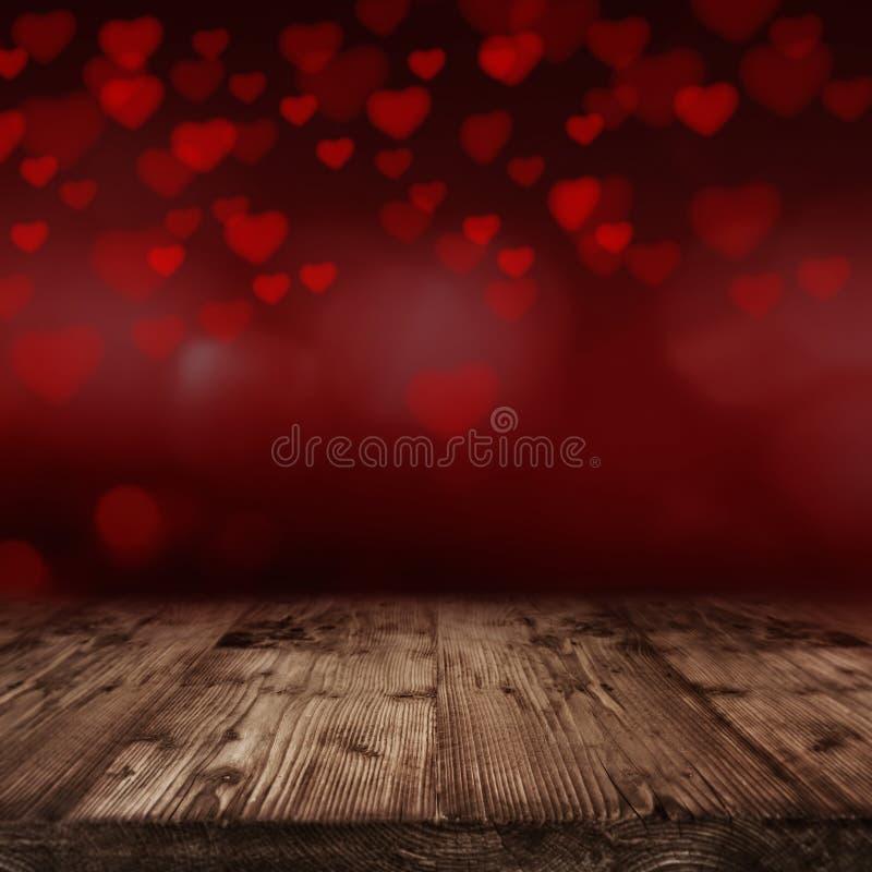 De achtergrond van de valentijnskaartendag met vele rode Harten stock foto's