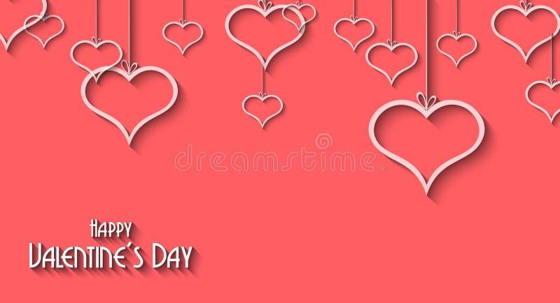 De achtergrond van de valentijnskaartendag voor dineruitnodigingen royalty-vrije illustratie
