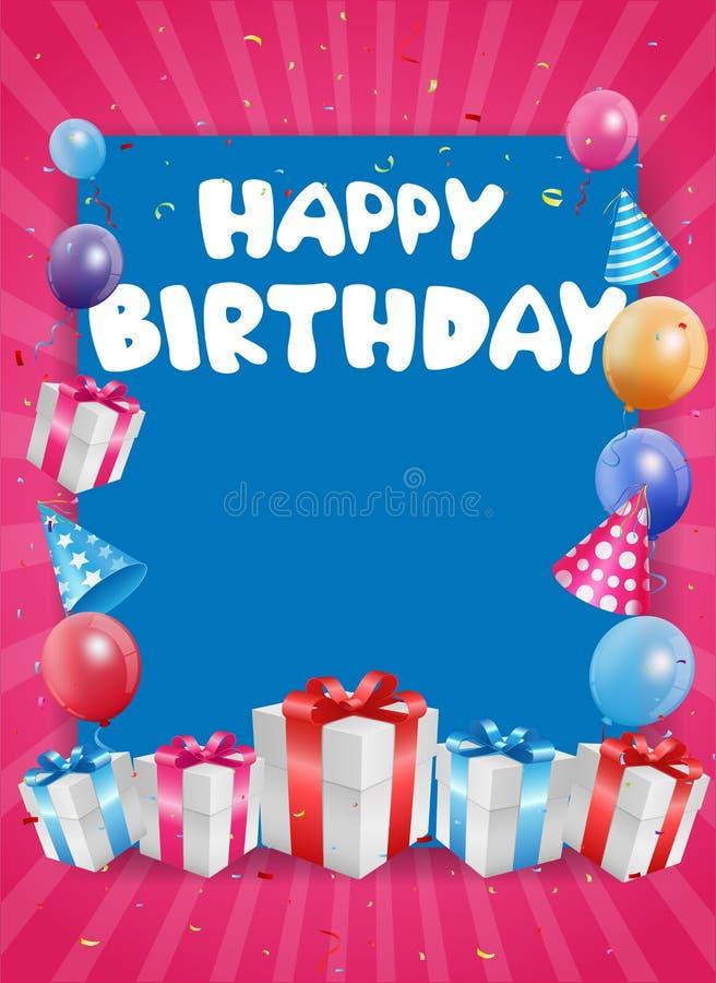 De achtergrond van de verjaardagsviering vector illustratie
