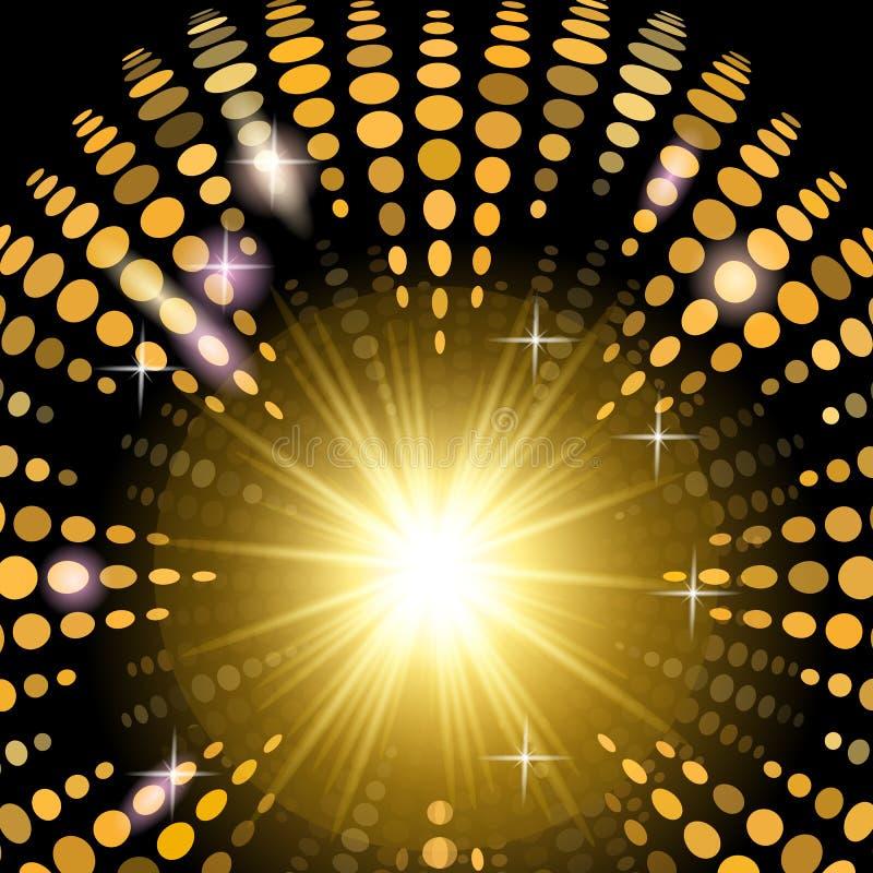 De achtergrond van de versiedisco met lichteffecten vector illustratie