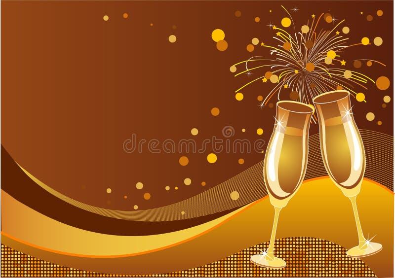 De achtergrond van de viering stock illustratie