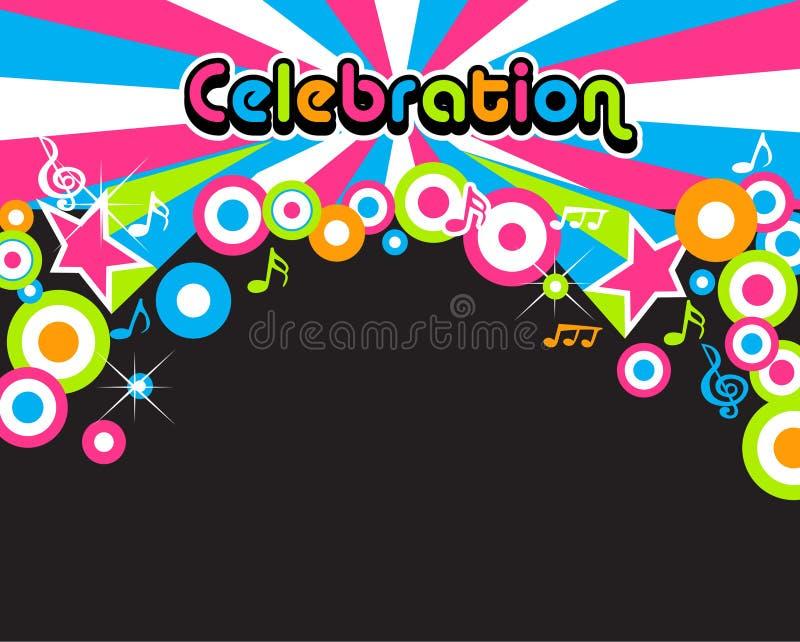 De achtergrond van de viering vector illustratie