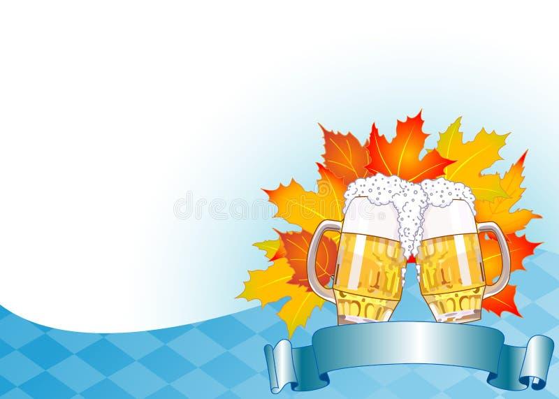 De Achtergrond van de Viering van Oktoberfest stock illustratie