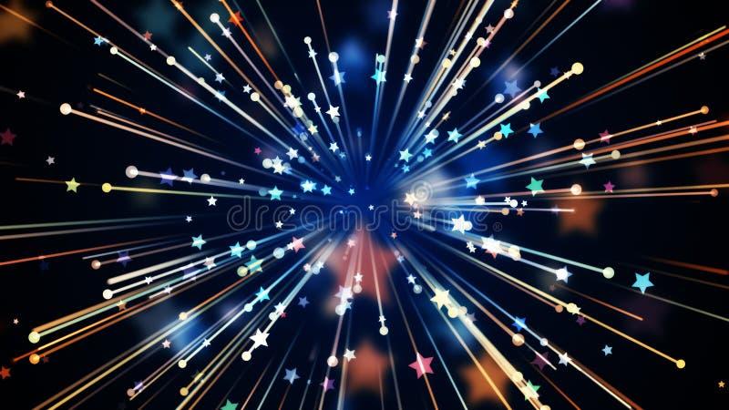 De Achtergrond van de vieringsnacht stock illustratie