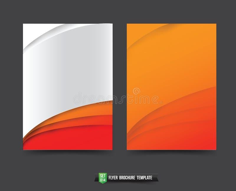 De achtergrond van de vliegerbrochure templated 014 Oranje krommeelement royalty-vrije illustratie