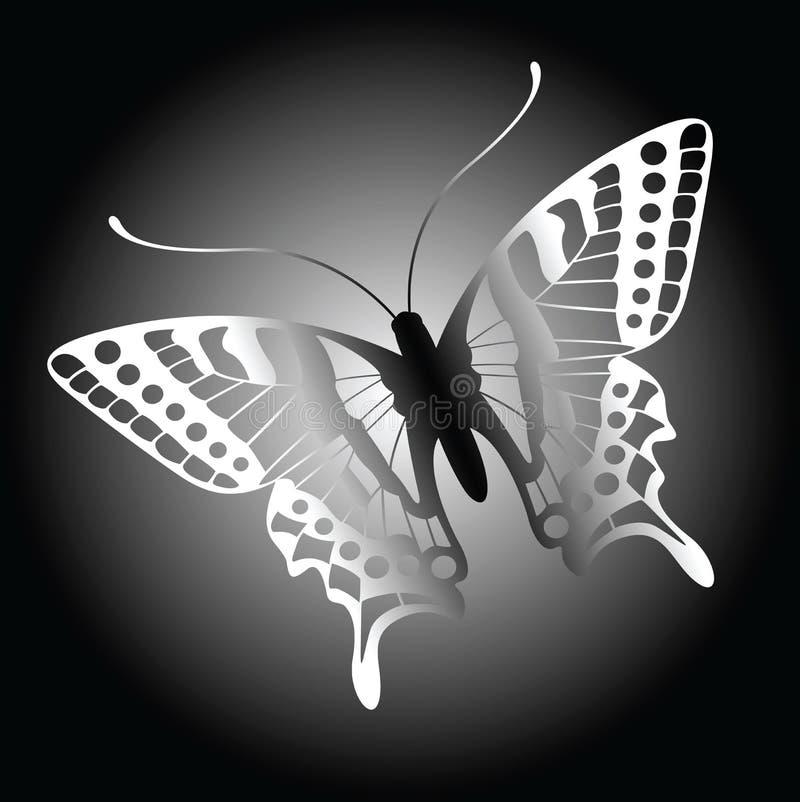 De achtergrond van de vlinder stock illustratie