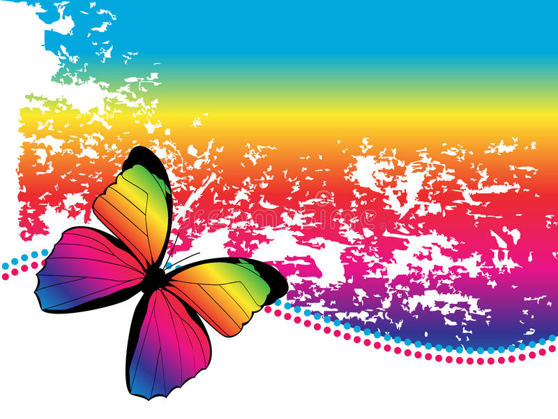 De Achtergrond van de Vlinder van de regenboog vector illustratie