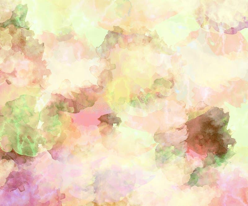 De achtergrond van de waterkleur royalty-vrije illustratie