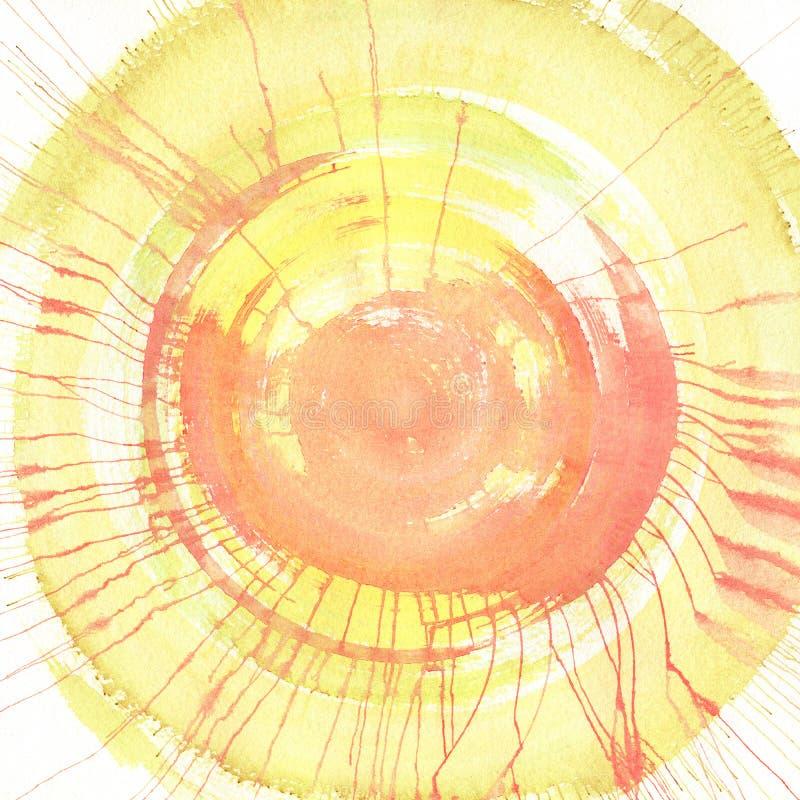 De achtergrond van de waterverf vector illustratie