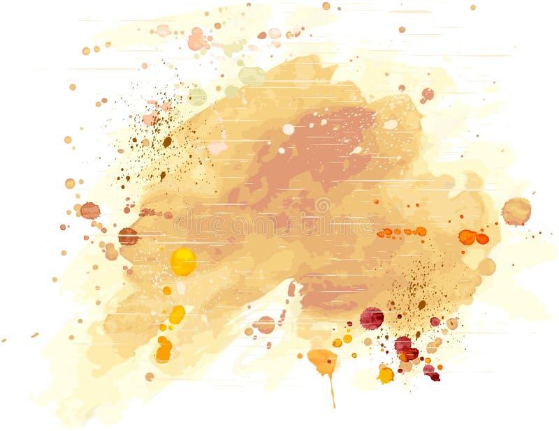 De achtergrond van de waterverf grunge vector illustratie