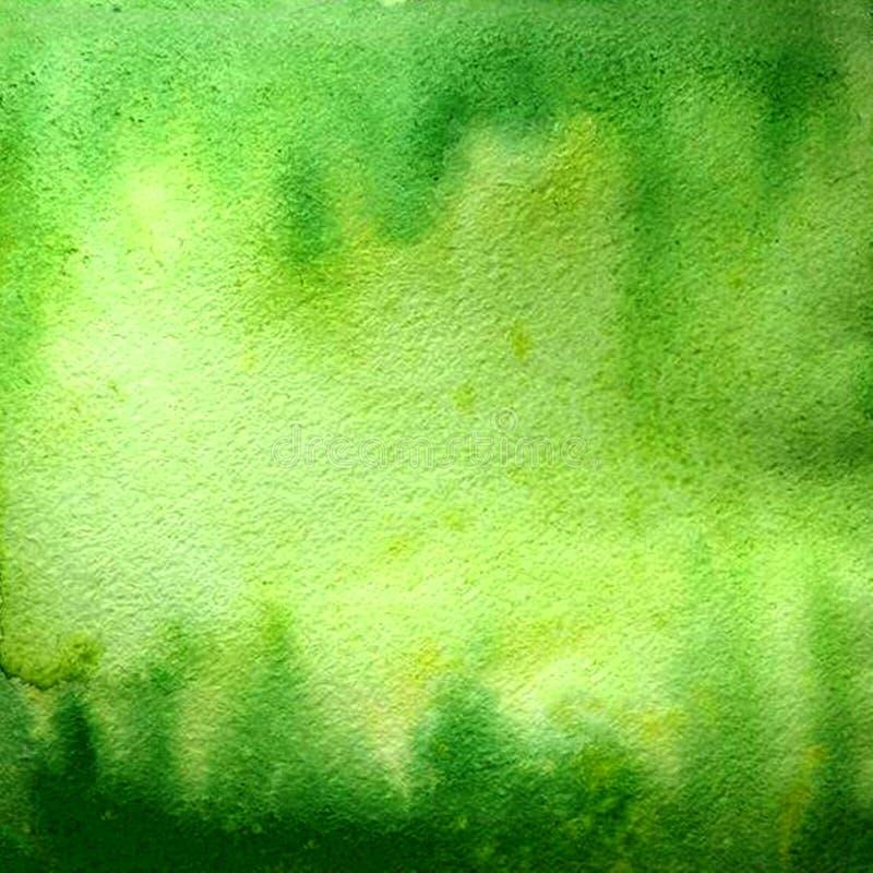 De achtergrond van de waterverfgradiënt Groen palet vector illustratie