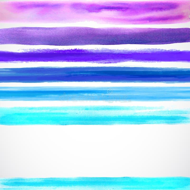 De achtergrond van de waterverfkleur met sommige strepen stock illustratie