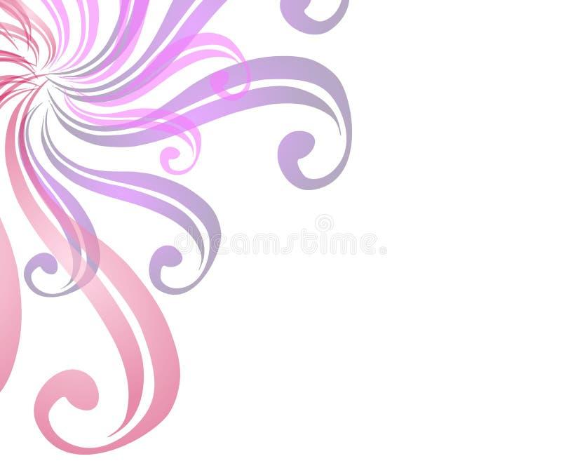 De Achtergrond van de Web-pagina Van wervelingen vector illustratie