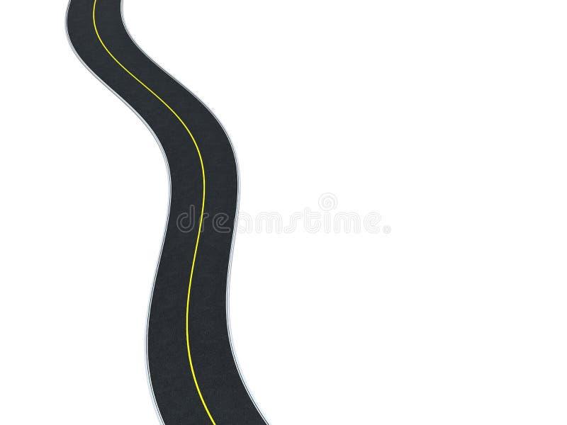 De achtergrond van de weg stock illustratie