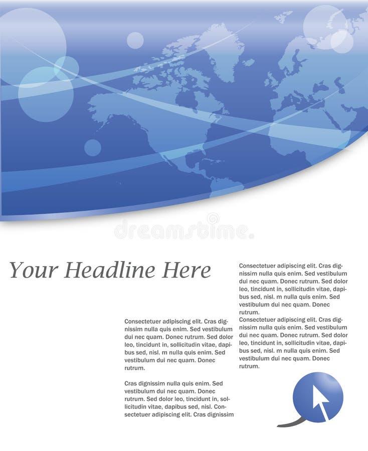 De achtergrond van de wereld royalty-vrije illustratie