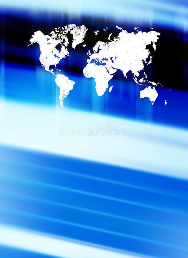 De achtergrond van de wereld stock illustratie