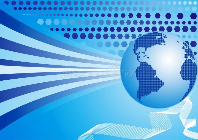 De achtergrond van de wereld, vector stock illustratie