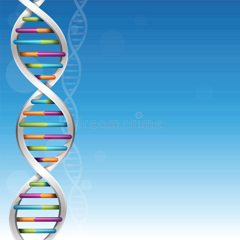 De Achtergrond van de Wetenschap van DNA vector illustratie