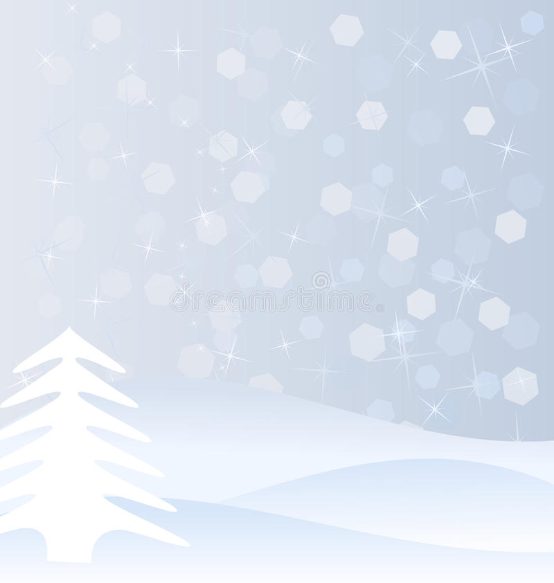 De Achtergrond Van De Winter Stock Fotografie