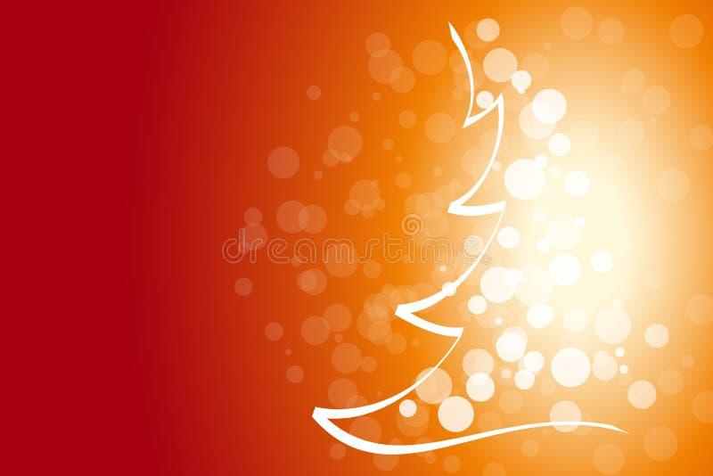 De achtergrond van de winter en van Kerstmis vector illustratie
